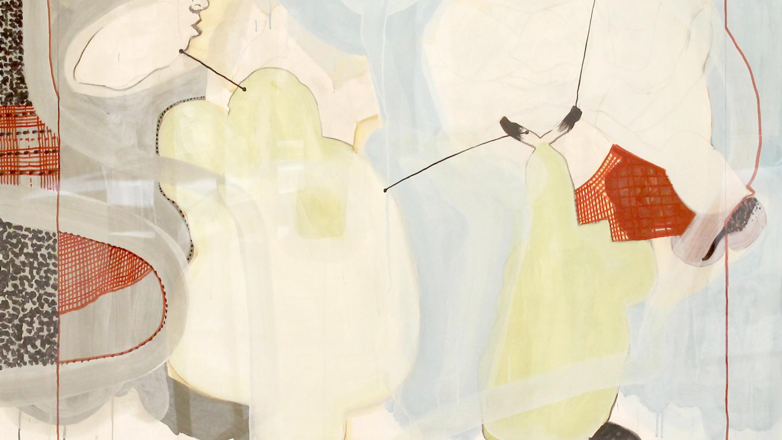 Jean-Michel ALBÉROLA_Plumeau_2003_136 x 147 cm_gouache sur papier