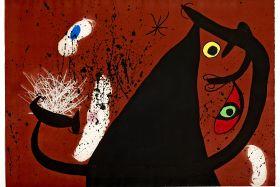 Frappeuse de silex, 1973. Gravure originale en Aquatinte, Carborundum et Eau-forte sur Vélin d'Arches.
