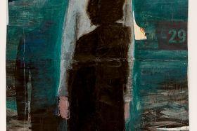 Jean Charles Blais_SansTitre-2021_peinture à l'huile et craie sur affiches arrachées_195x137cm
