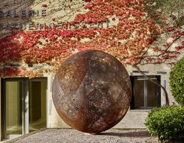 Vladimir SKODA - Sphère de ciel, ciel de sphères 2005 - Tôles perforées en acier - 180 cm