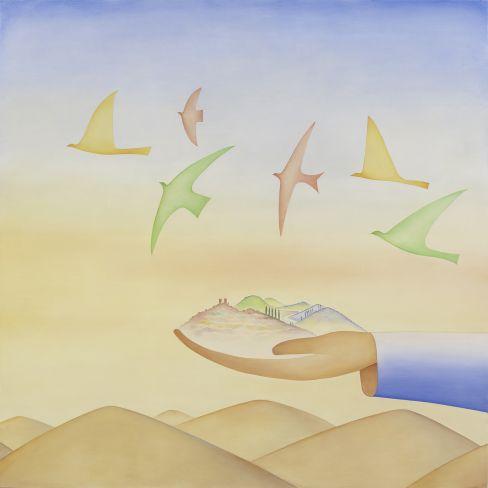 Une des peintures du décor